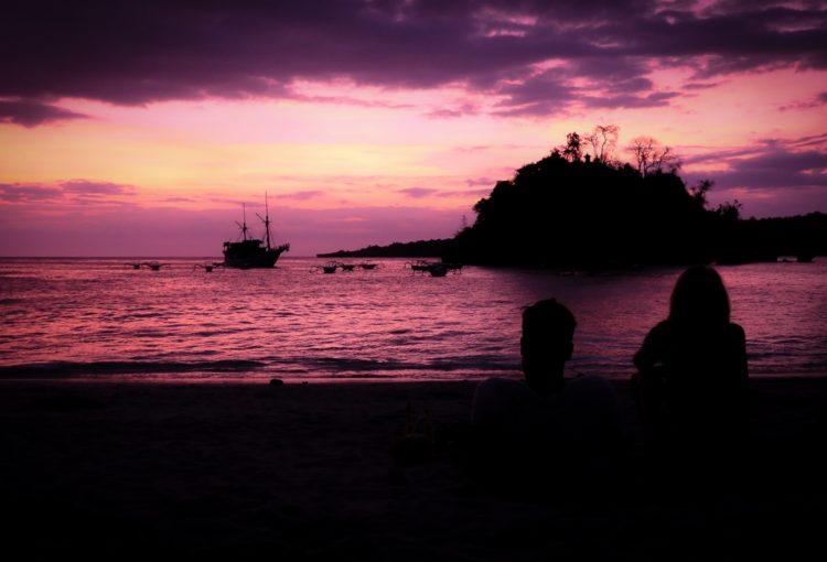 Coucher du soleil sur Crystal Bay (Nusa Penida)